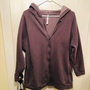 Fabletics Zip Up Hoodie Dusty Purple Size Medium